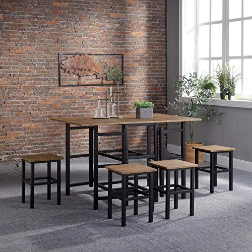 Home Treats Table & Stool Set, Kitchen Furniture, Tall Stool's (Folding Table & 4 stools)