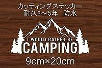 CAMP キャンプ アウトドア 山 川 車 カッティングステッカー