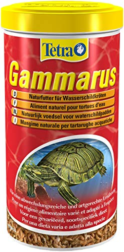 Tetra Gammarus hochwertiges Naturfutter für Wasserschildkröten aus ganzen Bachflohkrebsen, 1 Liter Dose