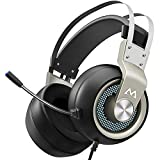 Mpow EG3 Pro - Over-Ear Gaming Headset for PC,PS4,Xbox One, Nintendo Switch,3D Surround Sound,Noise Cancelling Mic&Soft Memory Earmuff