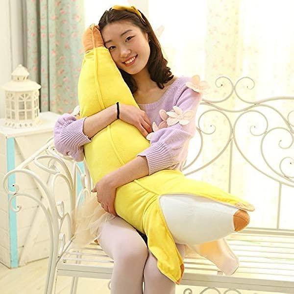 Gentlecarin Plush Stuffed Toy Doll Pillow Banana Plush Stuffed Pillow Cushion 70cm