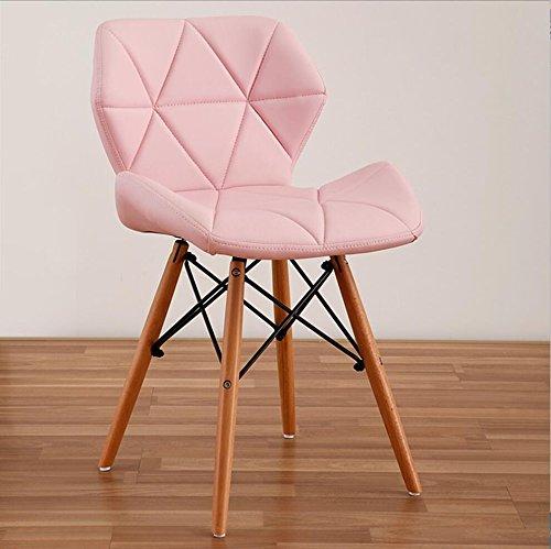 Tabouret en bois Chaises nordiques occasionnels créatifs arrière chaises d'ordinateur de bureau dinechair en bois massif (Couleur : B5)
