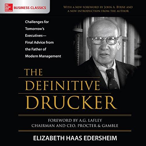 The Definitive Drucker audiobook cover art