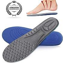 インソール 衝撃吸収 中敷き 靴底 - 消臭 抗菌【25cm~27.5cm】