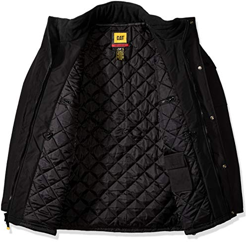 Caterpillar Men's Heavy Insulated Parka (Regular and Big & Tall Sizes), Black, Large