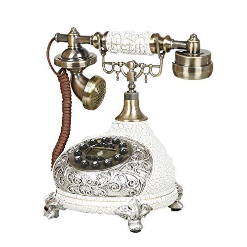 Teléfono Retro Vintage, Llave De Silicona Retro Europea Teléfono Antiguo Creativo Simple Hogar Sala De Estar Oficina Teléfono Fijo Decoración, Blanco