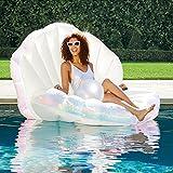 Inflatable Seashell Swimming Pool Inflatable Floating Ball Giant Swimming Pool Floating Bed Mattress Beach Swimming Pool Seashore Shell Shaped Water Sofa Floating Air Cushion Beach Swimming Pool