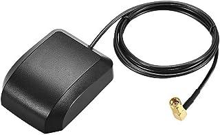 DyniLao GPS Active Antenna SMA macho enchufe 90 grados 34dB cable conector aéreo con montaje magnético 1 metro cable L