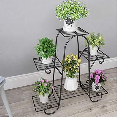 Haunen Haunen Estantería de Metal para macetas, Soporte de Flores Plantas para Exterior Interior...