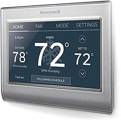 Honeywell Home RTH9585WF1004-RB Wi-Fi Smart Color Thermostat, 7 Day Programmable, Touch Screen, Energy Star, Alexa Ready (Renewed)