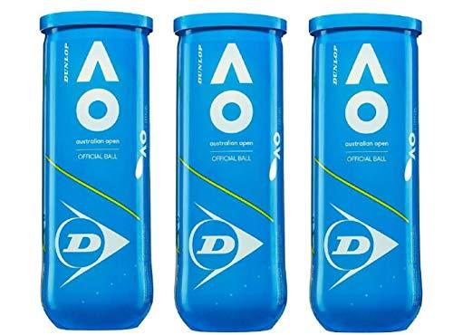 DUNLOP Australian Open Pack 9 Bälle (3x3)