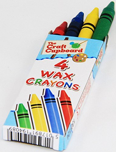 The Little Party Shop 12 X Packet Wax Colour Crayons 4 in A Pack Childrens Party Bag Filler Toy