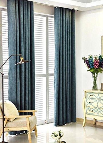 Gordijnen ecologisch katoen bamboe katoen woonkamer slaapkamer kant-en-klaar gordijn dikke schaduw stof eenvoudige modern punch gordijn (grootte: 300cm * 265cm) ondoorzichtige gordijnen