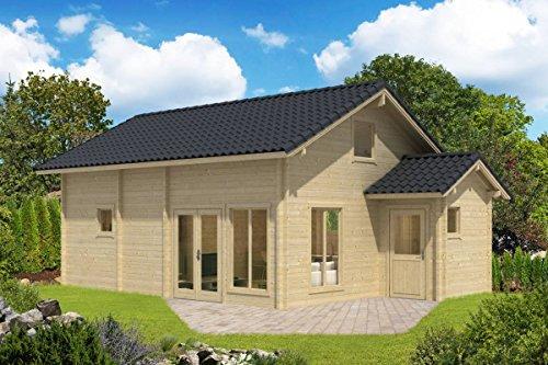 Preisvergleich Produktbild Ferienhaus F12 inkl. Fußboden - 70 mm Blockbohlenhaus,  Grundfläche: 42, 90 m²,  Satteldach