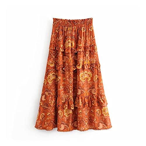 chushi Vestidos de Mujer Moda Mujeres Hippie Beach Bohemio Floral Impresión Ruffles...