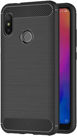 AICEK Funda Xiaomi Mi A2 Lite, Negro Silicona Fundas para Xiaomi Mi A2 Lite Carcasa Xiaomi A2 Lite Fibra de Carbono Funda Case (5,84 Pulgadas)