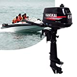 GDAE10 Outboard Motor,6HP 2 Stroke 4.4KW Outboard Motor Fishing Inflatable Boat Engine Water Cooling CDI System Durable Cast Aluminum Construction for Superior Corrosion Protection 2 Year WARRENTY