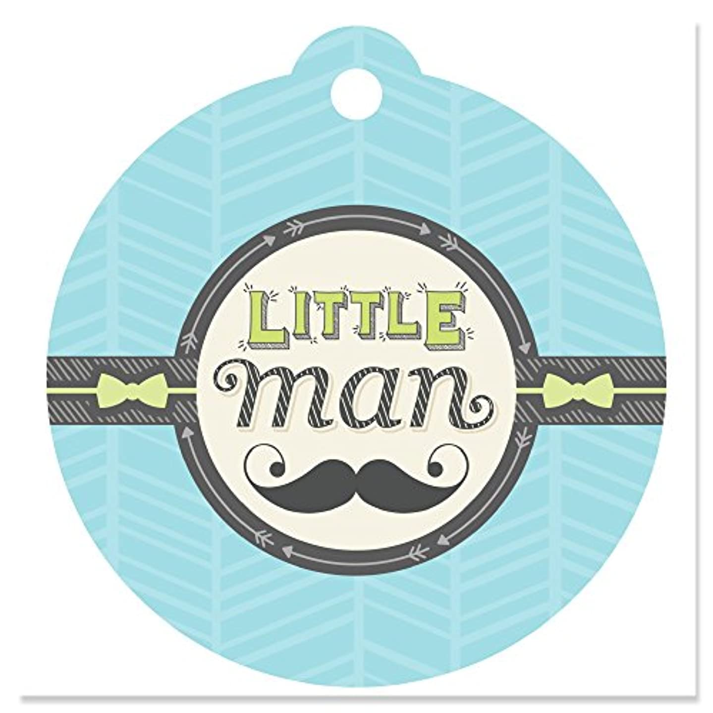 Dashing Little Man Mustache Party - Baby Shower or Birthday Party Favor Gift Tags (Set of 20)