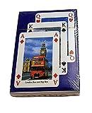 Juego de Naipes 54 Imágenes de Londres - Cartas Recuerdos de Reino Unido / Paquete de colección / Iconos / Big Ben / Autobús rojo / Buckingham / Ojo / Catedral de San Pablo / Patrimonio Británico