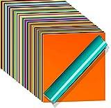 WINAROI 40 Láminas de vinilo 30,5 * 30,5cm Láminas de Vinilo Adhesivo Permanentes hojas de para pancartas con logotipos decoración 12x12 pulgadas