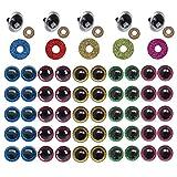 Gqavril12 Ojos de Seguridad con Purpurina Ojos de Seguridad de plástico Arandelas de Brillo Ojos de ...