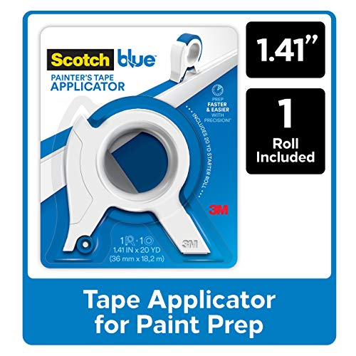 ScotchBlue Painter's Tape Applicator TA3-SB, Blue, with 1 Starter Roll 1.41 in. x 20 yd