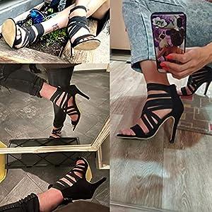 YHCS Bombas Zapatos para Mujer Tacones Altos Mujeres Sandalias 2021 Cremallera Verano Tacones Altos Sexy Damas Peep Toe Zapatos Bombas de Mujer