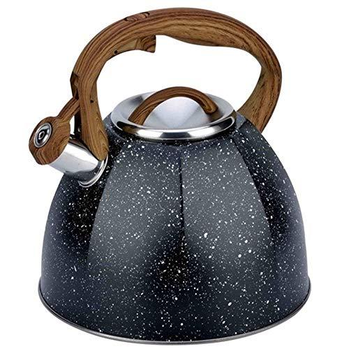 4L Starry Kettle Tetera Hervidor De Agua De Acero Inoxidable Olla De Gas Olla De Silbato De Metal Olla De Induccion Francesa-Do