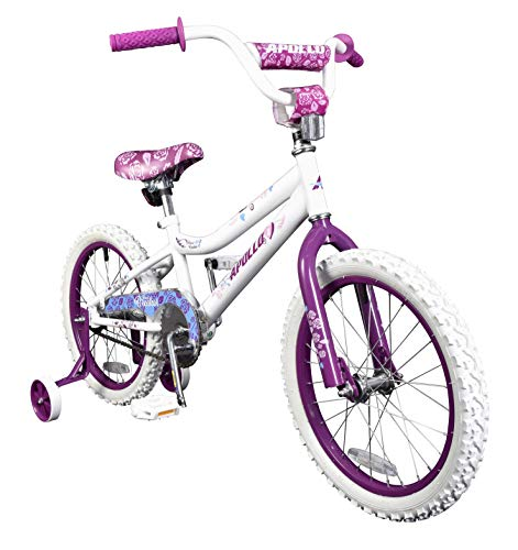 Apollo Heartbreaker 18 inch Kid's Bicycle, Ages 5 to 9, Height 42 - 50 inches, White/Pink
