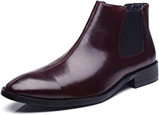 Fur Men's Chelsea Boots Leather Casual Shoes Men's Wear Wedding Dress Men's Boot