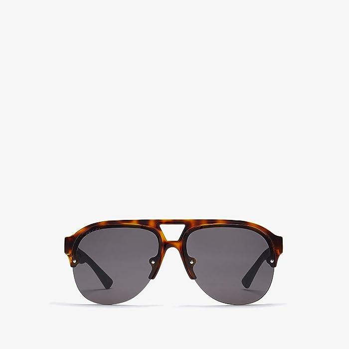 Gucci  GG0170S (Havana/Grey) Fashion Sunglasses
