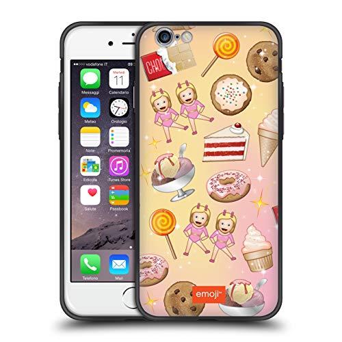 Head Case Designs Ufficiale Emoji Dolcetti Pattern Cover Ibrida Skinny Fit Trasparente Compatibile con Apple iPhone 6 / iPhone 6s