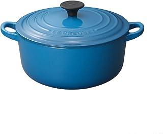 LE CREUSET 25001182002461–Olla Redonda (Hierro Fundido Azul Marsella 18cm