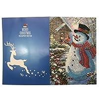 5D Diy のダイヤモンド塗装グリーティングカード特殊形状ダイヤモンド刺繍クリスマスカードポストカード誕生日クリスマスギフト-1
