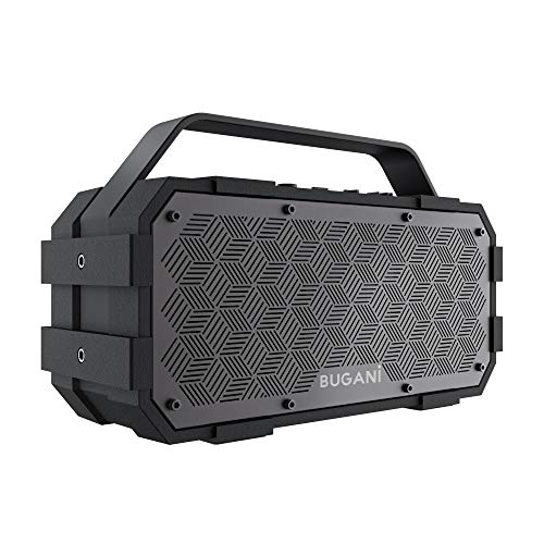 Bluetooth Speaker, M90 Portable Bluetooth Speaker,30W Stereo Sound and Deep Bass,Outdoor, Portable,Wireless Speakers, Bluetooth5.0, Support TF Card AUX,Built-in Mic, Black