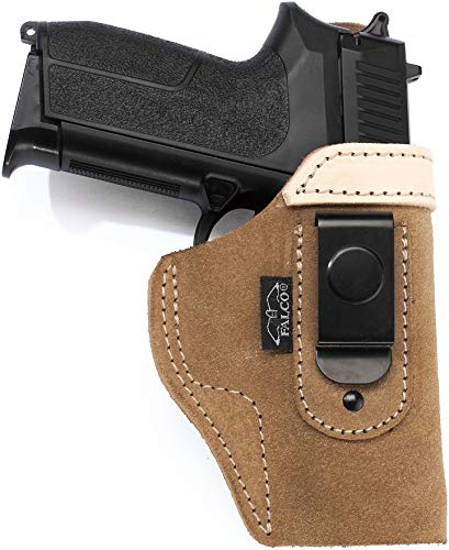 "Craft Holsters SW Model 686 Plus - 3"" Compatible Holster - Suede IWB Open Top Holster with Steel Clip (85V-NAT)"