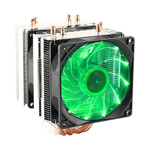 Warmdeco 4 Tubos de Calor CPU Enfriador Placa Base Ventilador de refrigeración radiador para 75/1150/1151/1155/1156/1366 AMD disipador de Calor