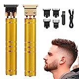 Tagliacapelli Uomo Professionale,Elettrico Tagliacappelli,Tagliacapelli per Regolabarba 2 en 1. USB Ricaricabile,con 4 Pettini per Diverse Lunghezze di Taglio(D'oro)