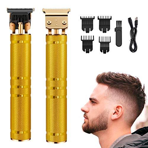 Tagliacapelli Uomo Professionale,Elettrico Tagliacappelli,Tagliacapelli per Regolabarba 2 en 1. USB Ricaricabile,con 4 Pettini per Diverse Lunghezze di Taglio(D\'oro)