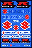 KIT STICKERS ADESIVI COMPATIBILI PER SUZUKI GSX R SPONSOR MOTO CROSS ENDURO CASCO (62)
