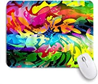 MISCERY マウスパッド 渦巻き落書き明るいカラフルな抽象的なアートワーク創造的なスパイラル 高級感 おしゃれ 防水 端ステッチ 耐久性が良い 滑らかな表面 滑り止めゴム底 24cmx20cm