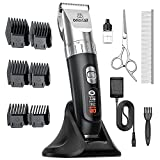 oneisall Dog Clippers,5-Speed Quiet Dog Grooming Kit,Cordless Low Noise Electric Pet Shaver Dog Hair Clippers,Professional Dog Grooming Clippers with Stand Base, Clippers for Dogs Cats Pets