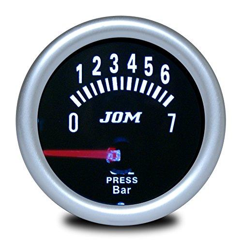 JOM Car Parts & Car Hifi GmbH Zusatzinstrument, Öldruckmesser, schwarz verspiegelt