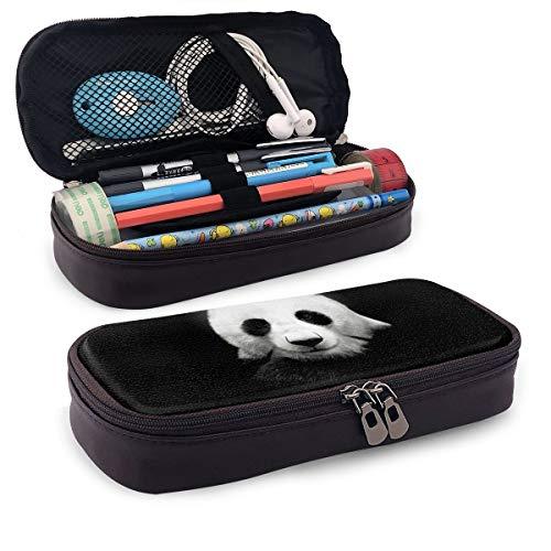Cute Panda Pencil Case Big Capacity Pu Leather Make-Up Art Pen Case for Teen School Office
