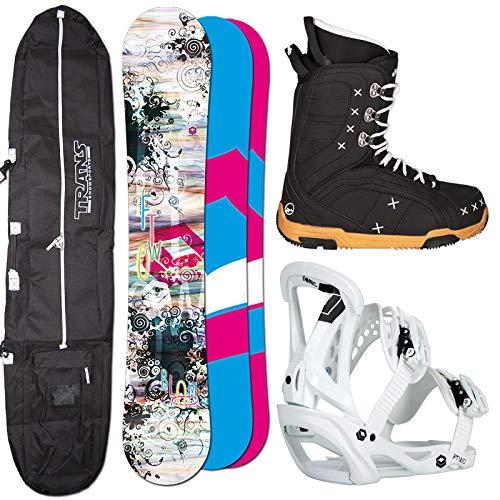 Ftwo Damen Snowboard Set Bloom 154 cm Sonic BINDUNG GR. M + Boots + Bag