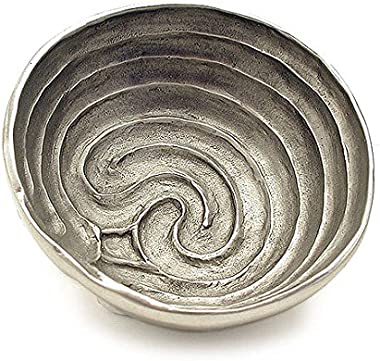 Cynthia Webb Designs Labyrinth Finger Bowl, Cretan, Pewter – Handcrafted in the USA