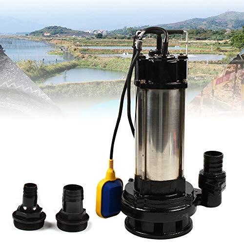 Schmutzwasserpumpe Tauchpumpe Edelstahl 36000 L/H 1500W Fäkalienpumpe mit Schwimmerschalter