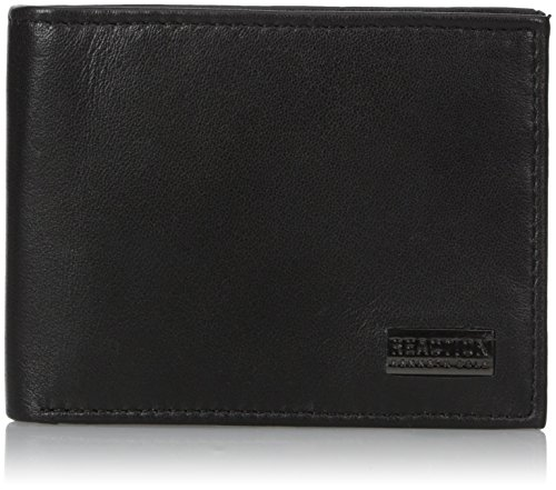 Kenneth Cole REACTION Men's Leather Bifold Wallet, Nappa Black, One Size