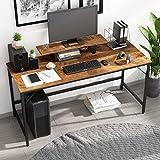 JOISCOPE Computertisch,Laptop-Schreibtisch mit Ablagefach,Holz und Metall,Arbeitstisch für das Heimbüro,60Zoll,152cm (Eiche Vintage Finish)