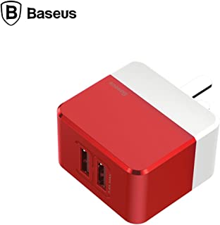 Baseus CCALL-XF09 Mini Square Dual-USB Charger - Red